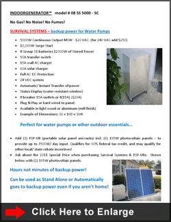 INDOORGENERATOR™ Model # 08 SS 5000 - SC :: Click to Enlarge