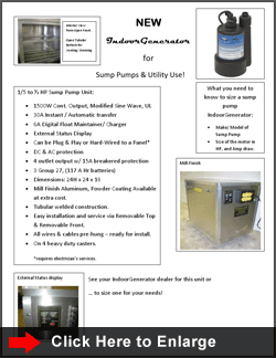 SUMP PUMPS & UTILITY USE :: Click to Enlarge
